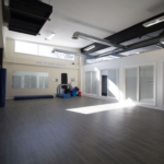 Group fitness classroom